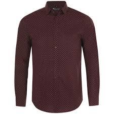 <b>Рубашка мужская BECKER</b> MEN, бордовая с белым под ...