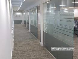 fg 4 single glazed frameless with frosted vinyl designs office partition designs