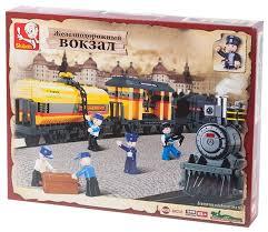 <b>Конструктор SLUBAN Железнодорожный вокзал</b> M38-B0233 ...