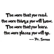 Dr. Seuss Quote (The more that you <b>read</b>...) - <b>Vinyl</b> Wall Art | A ...
