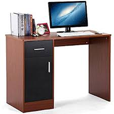 compact office desk. popamazing home office desk with 1 drawer door compact computer workstation laptop desktop table