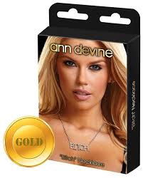 <b>Ann</b> Devine <b>Цепочка с подвеской</b> Bitch — купить по выгодной ...