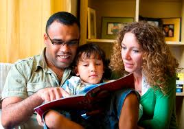 Image result for public photos of families reading