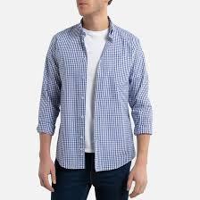 Рубашка <b>прямая</b> с длинными рукавами и принтом виши в клетку ...