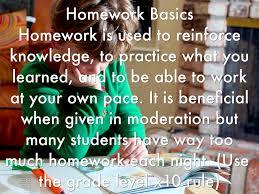 BASICS OF HOMEWORK