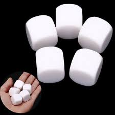 <b>5Pcs</b> 20Mm <b>Blank Dice</b> White Rounded Corner D6 Children Teching ...