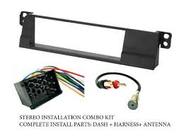amazon com bmw stereo wiring harness dash install kit amazon com bmw stereo wiring harness dash install kit faceplate fm antenna adaptor combo complete aftermarket stereo wire and installation kit