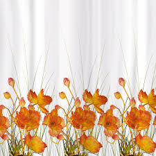 Штора для <b>ванной</b> комнаты <b>Tatkraft</b> French Poppies Textile белая ...