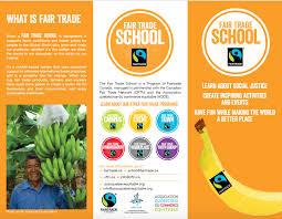 fair trade school resources cftn ca fair trade schools folding brochure