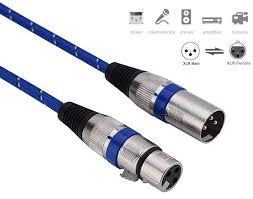 WOXLINE <b>0.3m XLR</b> 3 Pin Male to Female <b>Cable Cord</b> ...