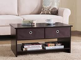 2L Lifestyle Westfield <b>4</b> Bin Drawers <b>Coffee Table</b>,Brown: Amazon ...
