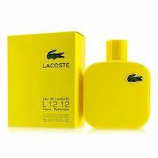 <b>Lacoste L</b>.<b>12.12 Jaune</b> Cologne Men Perfume Eau De Toilette ...