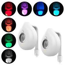 8 Colors <b>LED</b> Toilet Light Smart Motion Activated Sensor <b>Night Light</b> ...