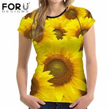 <b>FORUDESIGNS Women's</b> Fashion Short Sleeve <b>T Shirt</b> Summer 3D ...