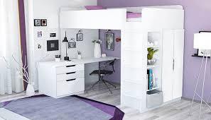 Кровать-чердак <b>Polini</b> Simple с письменным столом и шкафом ...