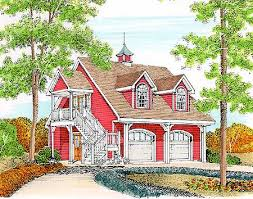 Carriage House Plans   e ARCHITECTURAL design   Page Plan W PR  Four Car Garage
