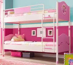 Детская <b>двухъярусная кровать Cilek Princess</b> розовая купить ...