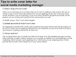 3 tips to write cover letter for social media marketing manager marketing manager cover letters