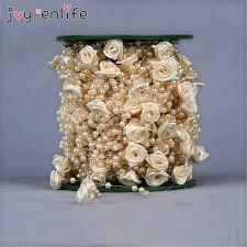 Wedding Decoration <b>5 Meters Fishing Line</b> Artificial Pearls Beads ...