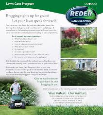 new maintenance page reder landscaping servicing midland bay lawn care programs
