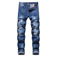 <b>Mens</b> Ripped Jeans Pants plus sizes | Ripped jeans style, Ripped ...