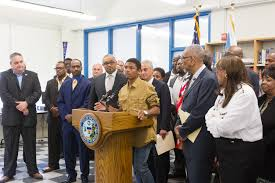 vocational courses back at dunbar career academy gary chicago a dunbar student on monday 25 speaks during a press conference where or rahm
