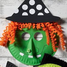 Witch Paper Plate Mask for Halloween - Project | <b>Halloween mask</b> ...