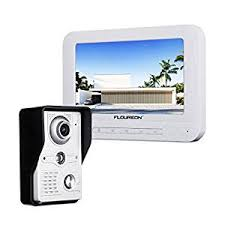 FLOUREON <b>7 Inch Video</b> Doorbell Phone System, Clear <b>LCD</b>
