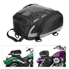 Waterproof <b>Motorcycle Tail Bags</b> Back <b>Seat Bags</b> Luggage Storage ...