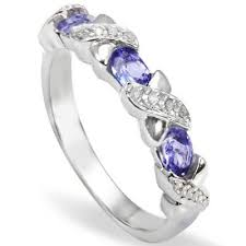 0.46 CTW <b>GENUINE</b> TANZANITE and <b>GENUINE</b> DIAMOND ...