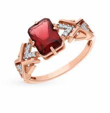 Серебряные <b>кольца</b> с <b>красным</b> камнем — купить недорого в ...