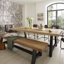 bench kitchen tables distressed wood table amp bench metal legs industrial modern design