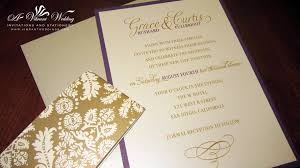 purple wedding invitation a vibrant wedding Purple Gold Wedding Invitations purple and gold wedding invitation with brocade belly band cheap purple and gold wedding invitations
