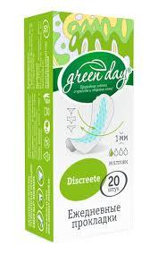 <b>Прокладки GREEN DAY</b> Discreete <b>гигиенические</b> ежедневные ...