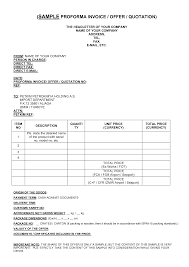 work quotation format cf resume sample proforma invoice template
