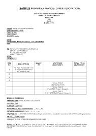 work quotation format cf resume sample proforma invoice template