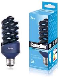 LH26-FS/BLB/<b>E27</b>, <b>Лампа</b> энергосберегающая УФ 26Вт, 220В, Е27