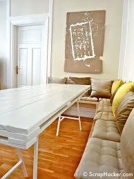 real rustic kitchen table long: step  p wm step