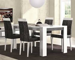 Unfinished Wood Dining Room Chairs Black High Gloss Finish Wooden Table Minimalist Dining Room Design