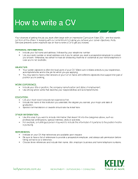 write cv examples sample