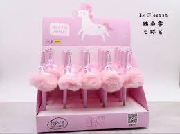 Korean Style <b>Unicorn</b> Gel Pen <b>Cartoon</b> Charm Boutique hair <b>ball</b> ...