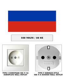 Electrical Plug/Outlet and Voltage Information <b>for Russia</b>