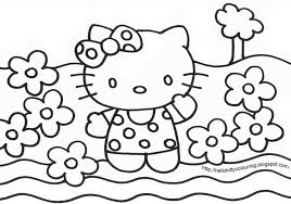 hello kitty face coloring pages template coloring colouring gallery coloring pictures of hello kitty image 9 of 10