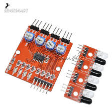<b>4CH Infrared</b> Detector Tracked Photoelectricity Sensor Four 4 ...