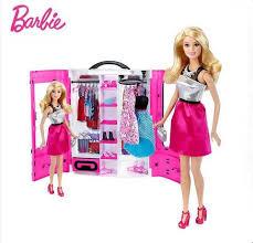 Купить <b>Шкаф Barbie</b> модницы с <b>куклой</b> Барби (розовый ...