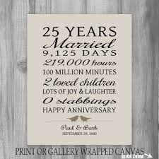 25 Year <b>Anniversary</b> Gift 25th <b>Anniversary Art</b> Print <b>Personalized</b> ...