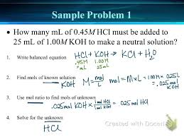 solving acid base titration problems solving acid base titration problems