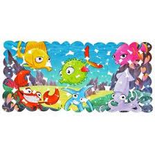 <b>Коврик</b> для ванны «Яркие рыбы», 35×68 см (1275511) - Купить по ...