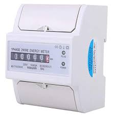 Energy KWh Meter - 1 Phase 2 Wire DIN Rail ... - Amazon.com