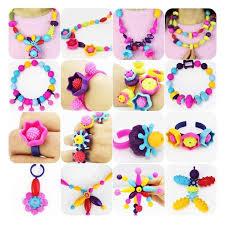 500 Pcs Kids Snap Beads Set - <b>Creative DIY Jewelry</b> Making Kit for ...